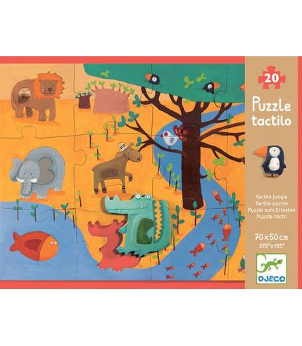 Puzzle duże zwierzeta w dżunglii Djeco