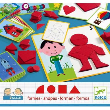 Gra EDULUDO układanie kształtów geometrycznych Djeco