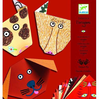 Djeco, origami z naklejkami Zwierzaki