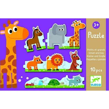 Djeco, puzzle tekturowe małe i duże
