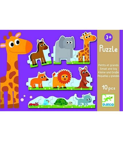 Puzzle tekturowe małe i duże Djeco