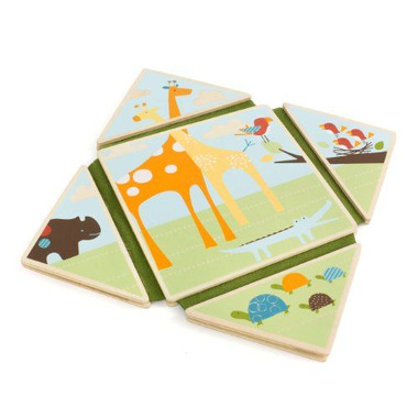 Skip Hop, drewniana książeczka Safari