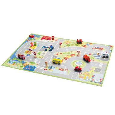 Puzzle miasto z figurkami