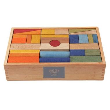 Klocki XL kolorowe  63 szt. w pudełku