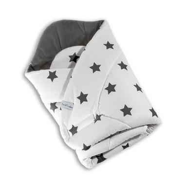Rożek niemowlęcy w grafitowe gwiazdy