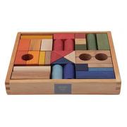 Klocki 30 szt. kolorowe w pudełku
