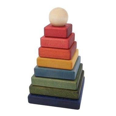 Piramida kwadratowa kolorowa