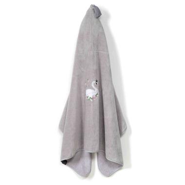 La Millou,  Ręcznik Kid Bamboo Soft GREY  MOONLIGHT SWAN