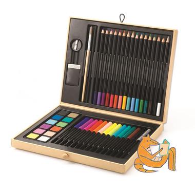 Djeco, Mały zestaw artystyczny  kredki,mazaki,farby