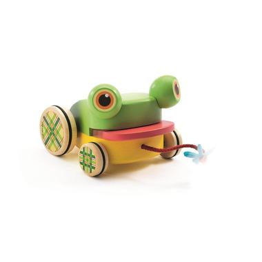 Djeco, Drewniana żabka do ciągania z dźwiękiem