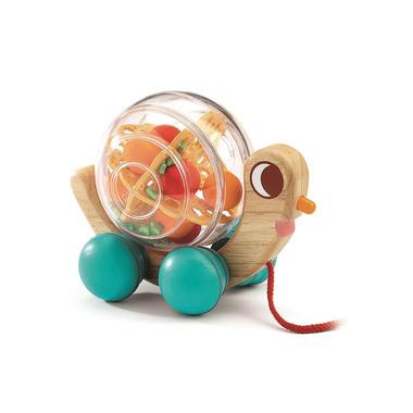 Djeco, Drewniany ślimak do ciągania z dźwiękiem