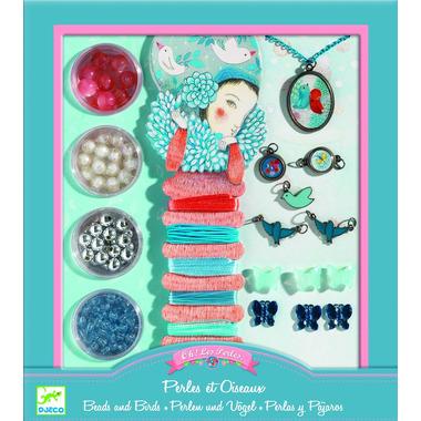 Djeco, Zestaw do tworzenia biżuterii PERŁY I PTAKI