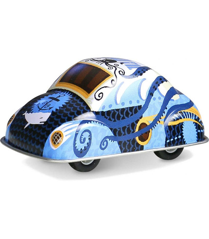 Vilac, Niebieskie autko z napędem zabawka metalowa od 3 lat