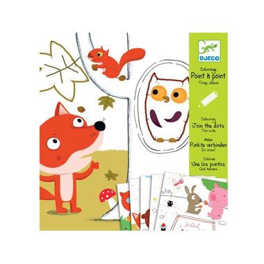 Djeco, zestaw artystyczny, kolorowanka Zwierzęta