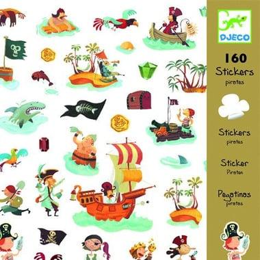 Djeco, zestaw naklejek Piraci