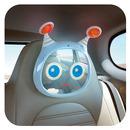 Lusterko aktywne do samochodu niebieskie Benbat
