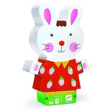 Djeco, puzzle w pudełku króliczek