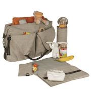 Lassig, ekologiczna torba Green Label Neckline Bag Choco Melange