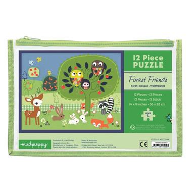 MUDPUPPY Moje pierwsze puzzle – 12 elementów  Leśni przyjaciele