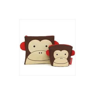 Skip Hop, saszetki na drugie śniadanie i przekąski - Małpka