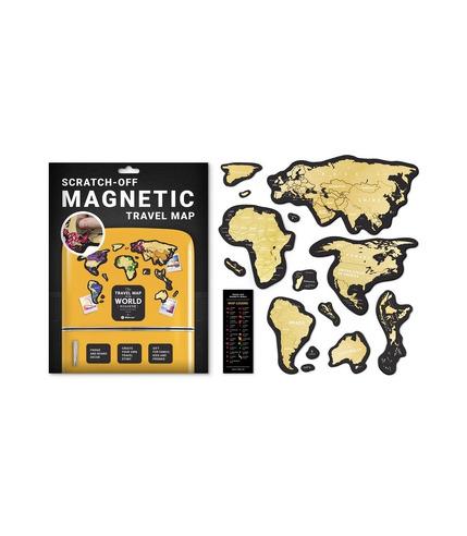 Mapa zdrapka świat travel magnetic world
