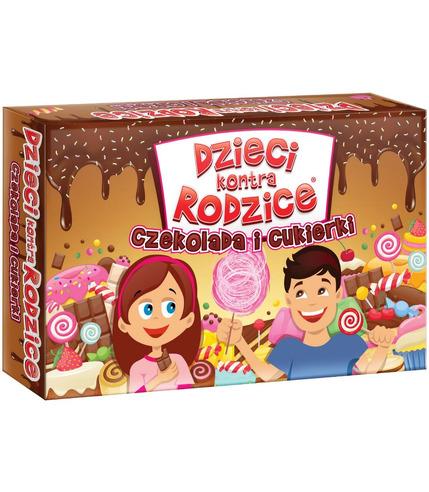 Gra czekolada i cukierki dzieci kontra rodzice