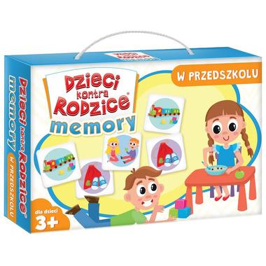 Gra memory w przedszkolu dzieci kontra rodzice