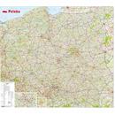 Mapa ścienna polska 1:650 000
