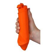 Zwijane wiaderko silikonowe pomarańczowe