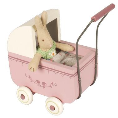 Maileg, wózek dla króliczka lawendowy