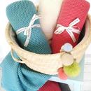 Tkany kocyk Cotton Classic turkusowy Color Stories