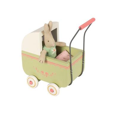 Maileg, wózek dla króliczki zielony