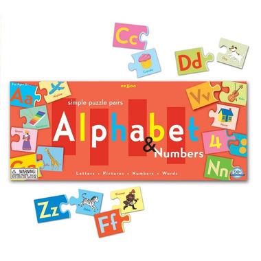 Puzzle edukacyjne litery i cyfry