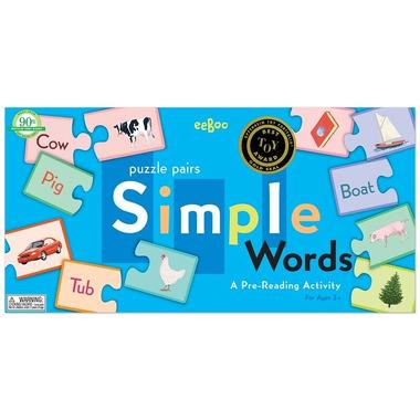 Puzzle proste słowa - nauka angielskiego