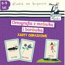 Ortografia z mrówką i borówką karty obrazkowe kapitan nauka