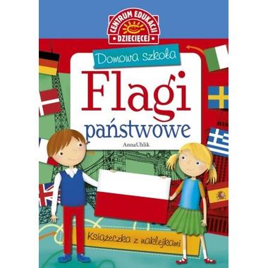 Flagi państwowe domowa szkoła + naklejki