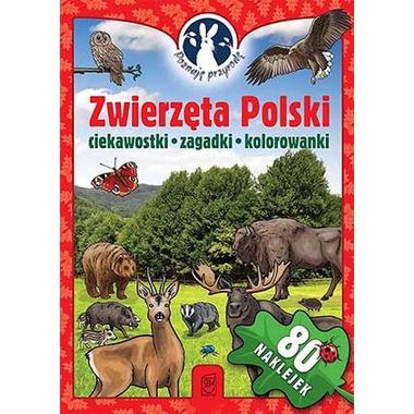 Zwierzęta polski poznaję przyrodę + naklejki