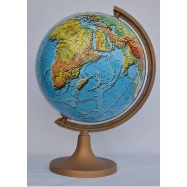 Globus 320 polityczny fizyczny podświetlany