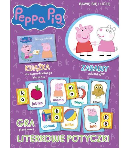 Literowe potyczki świnka peppa bawię się i uczę