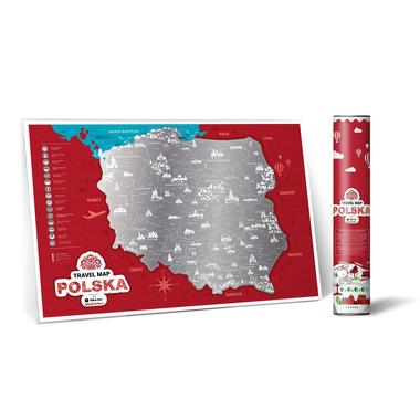 Mapa zdrapka polska travel map polska