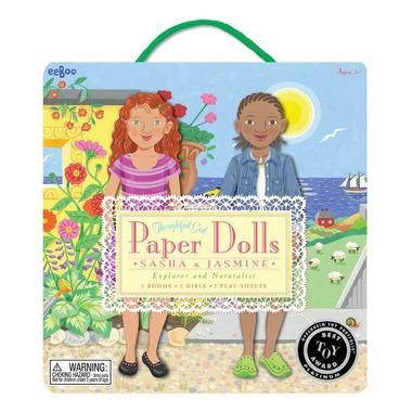 Papierowe laleczki Sasha i Jasmine