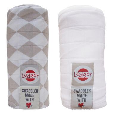 Pieluszki otulacz  2-pack Shell/White