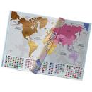 Mapa zdrapka świata premium gold