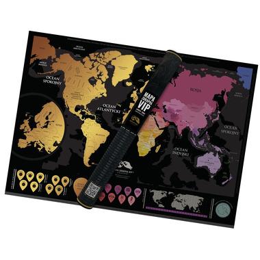 Mapa zdrapka świata vip