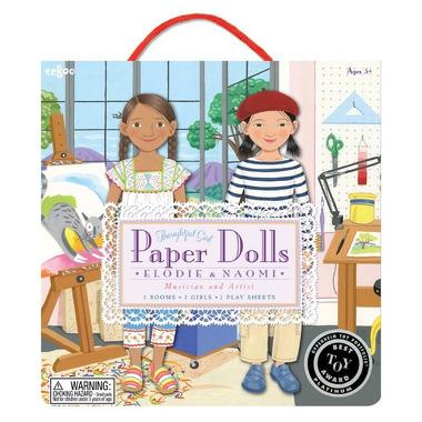 Papierowe laleczki Elodie i Naomi