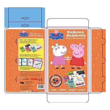 świnka peppa bajkowa akademia / litery zawody kolory i kształty