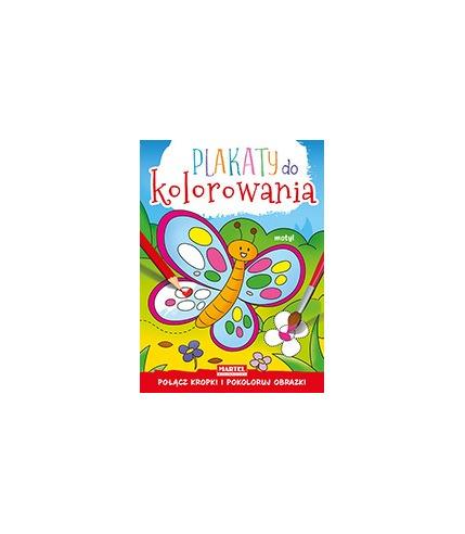 Motyl plakaty do kolorowania