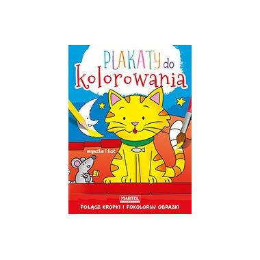 Myszka i kot plakaty do kolorowania