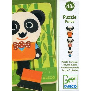 Djeco, puzzle trzy warstwowe rodzina Pandy
