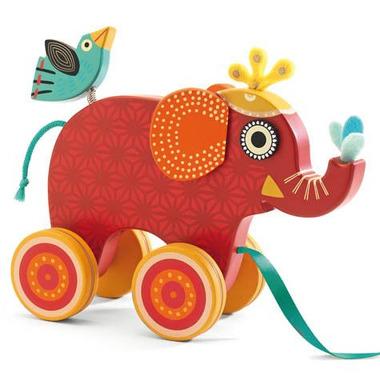 Djeco, zabawka do ciągnięcia - Słoń Indyjski
